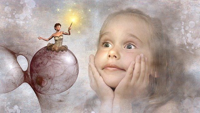fantasy little girl and fairy image