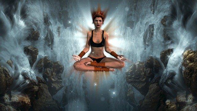 yoga woman energy image