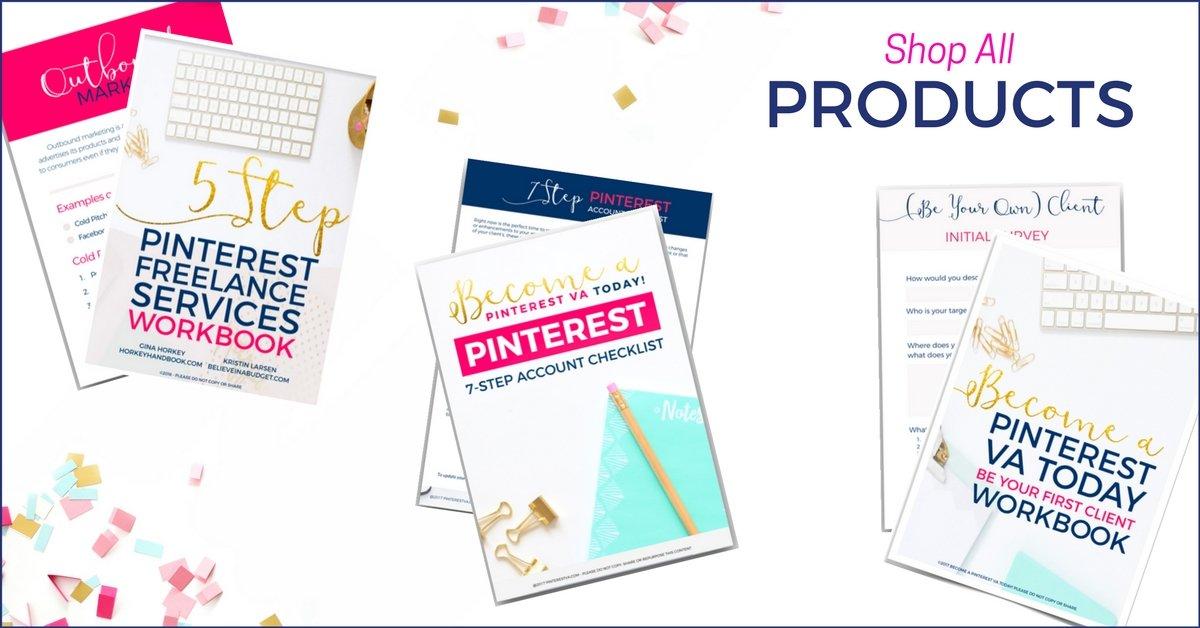 Pinterest shop header