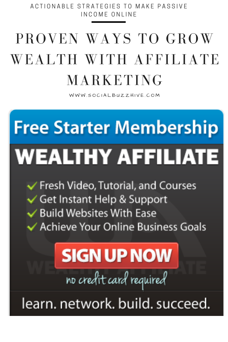 wealthy affiliate passive income free trial