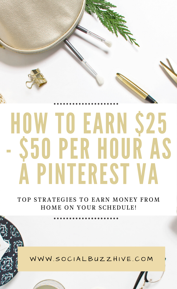 How to Earn $25-$50 per hour as a pinterest VA