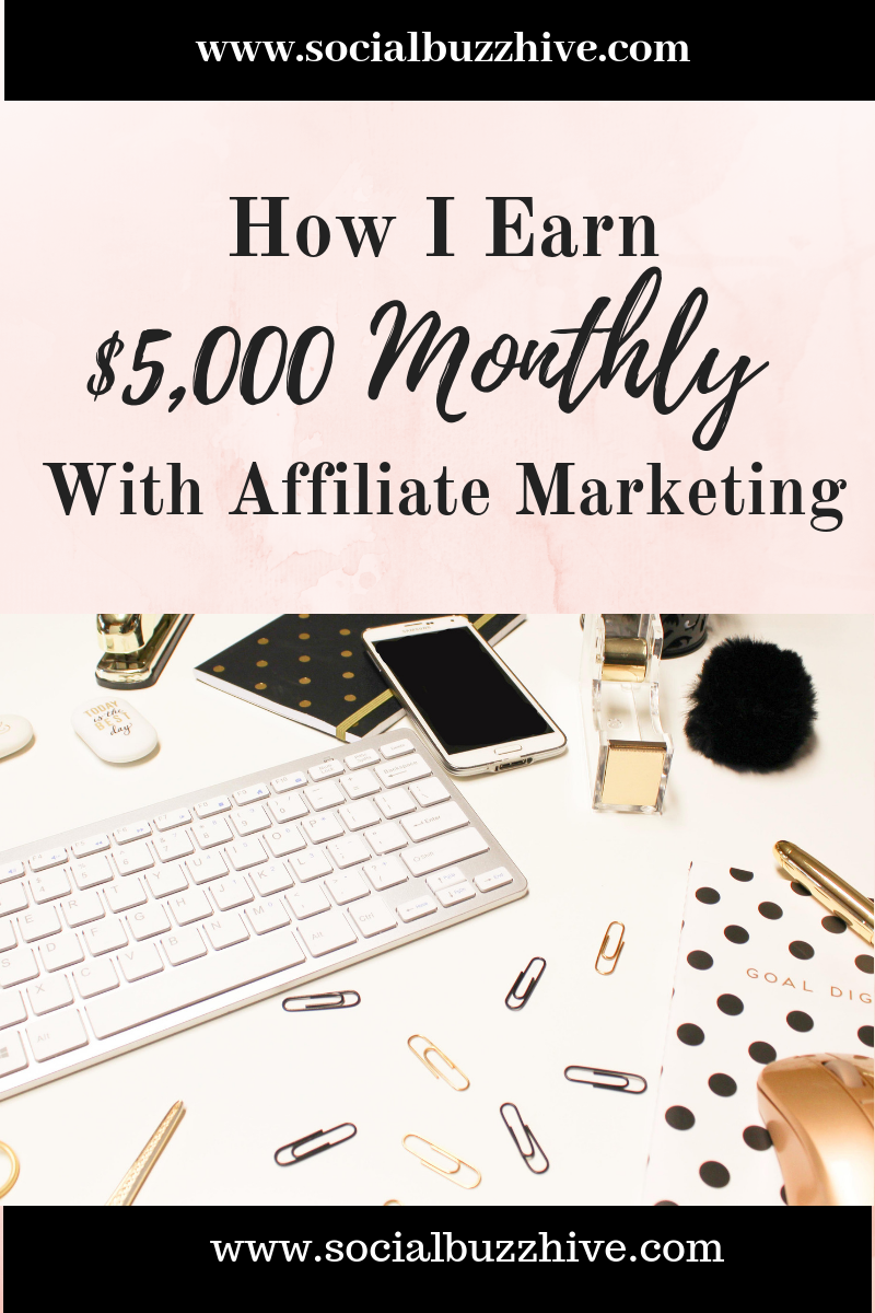 How I earn $5,000 monthly with affiliate marketing image
