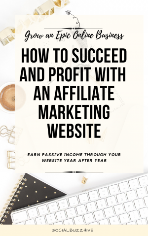 how to succeed and profit with an affiliate marketing website