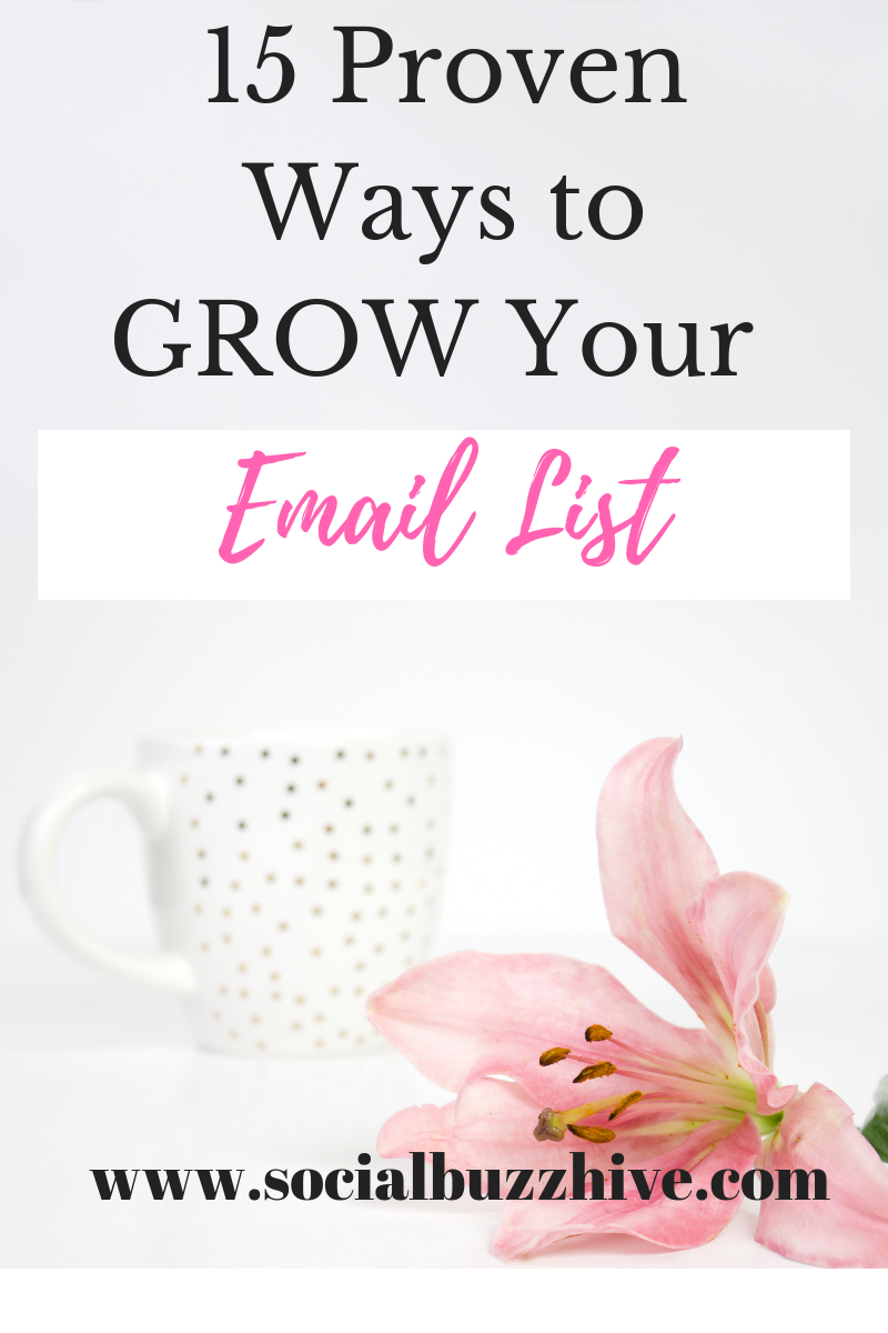 15 ways to grow your email list
