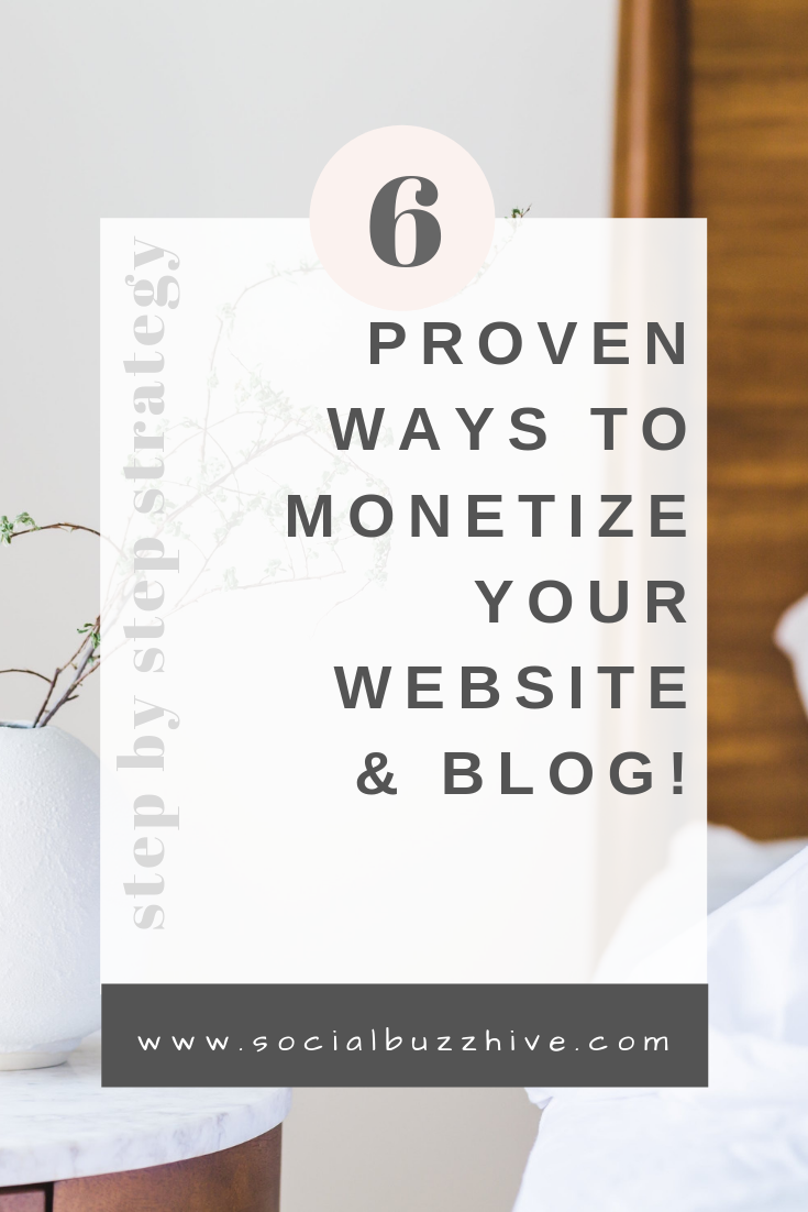 6 proven ways to monetize your website and blog