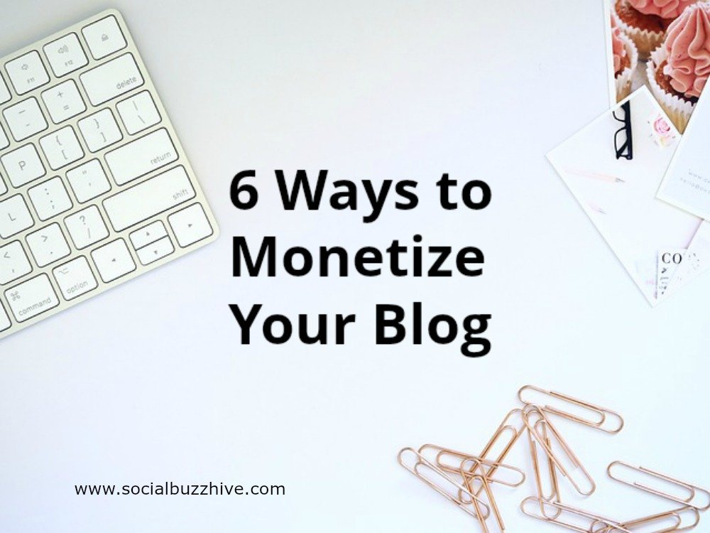 Laptop, paperclips, monetize your blog