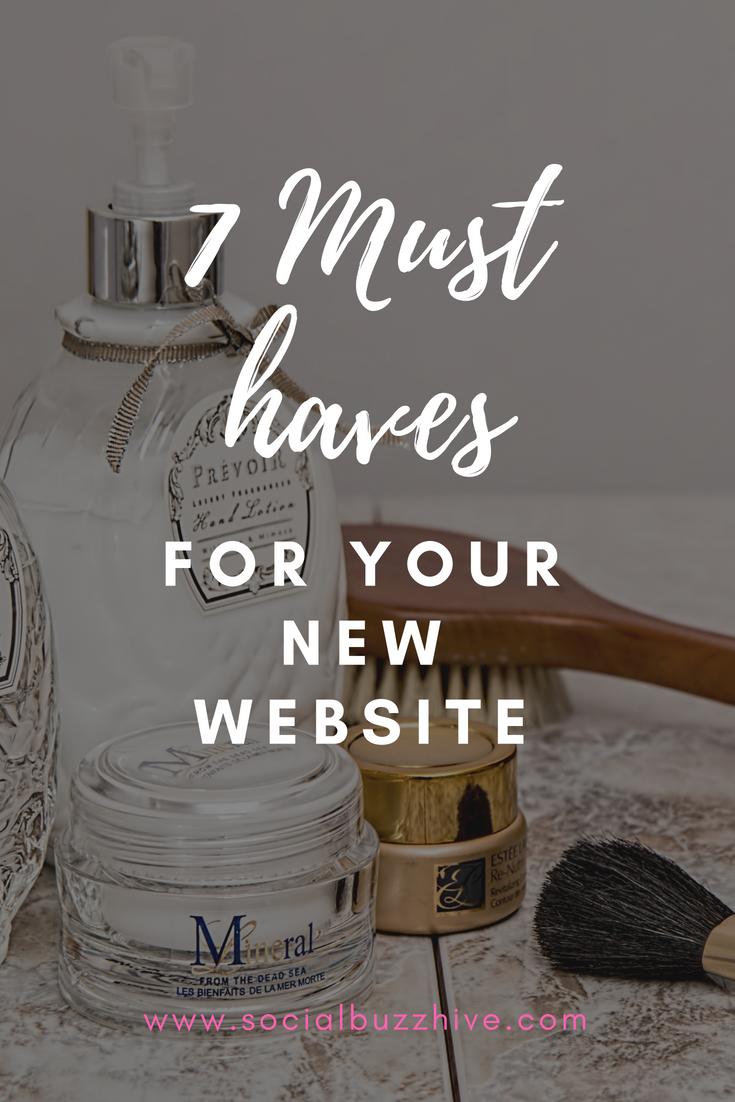 7 must haves for your new website pinterest pin