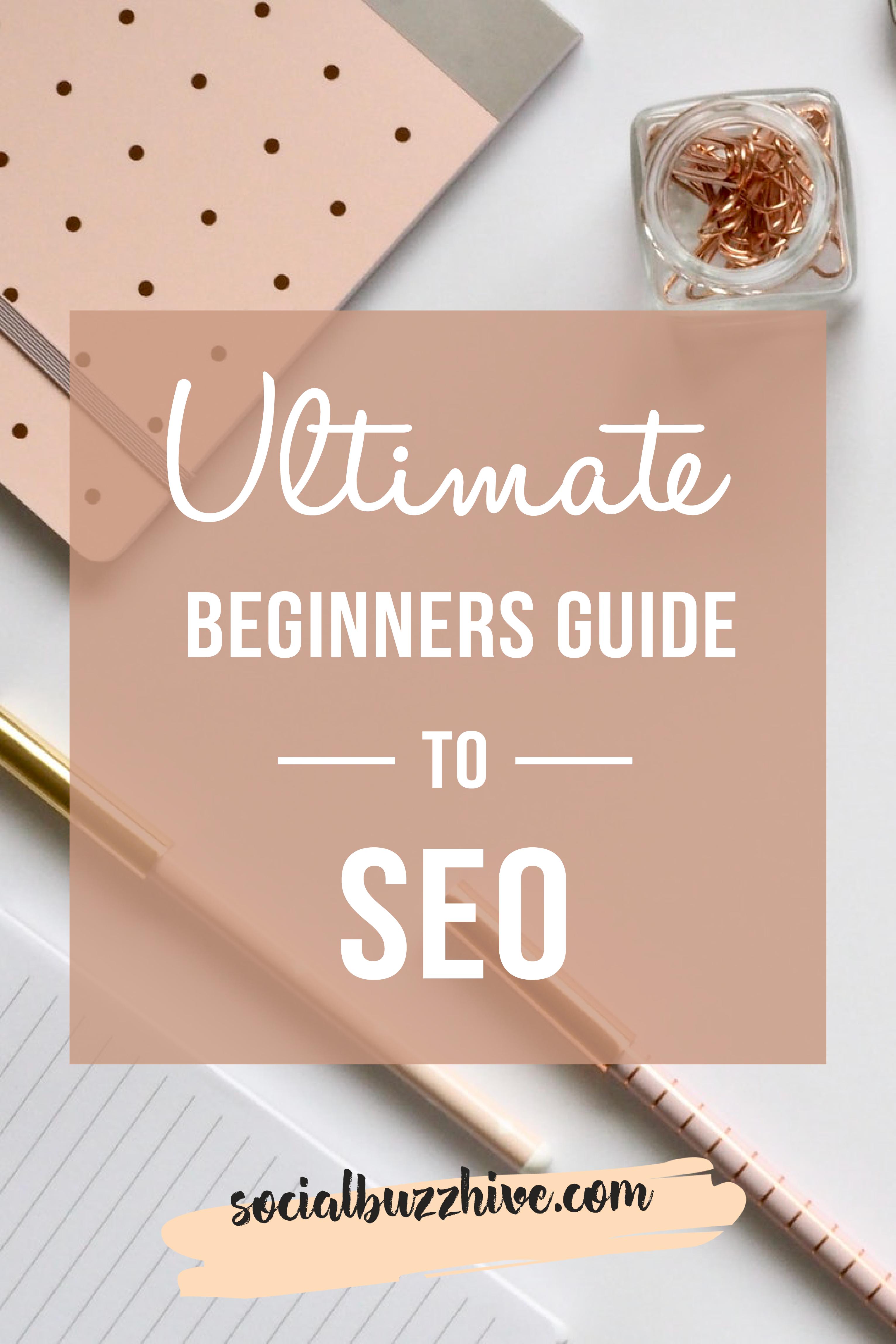 SEO beginner's guide pinterest image pin