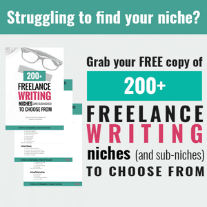 200 freelance writing niches
