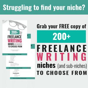 200 freelance writing niches