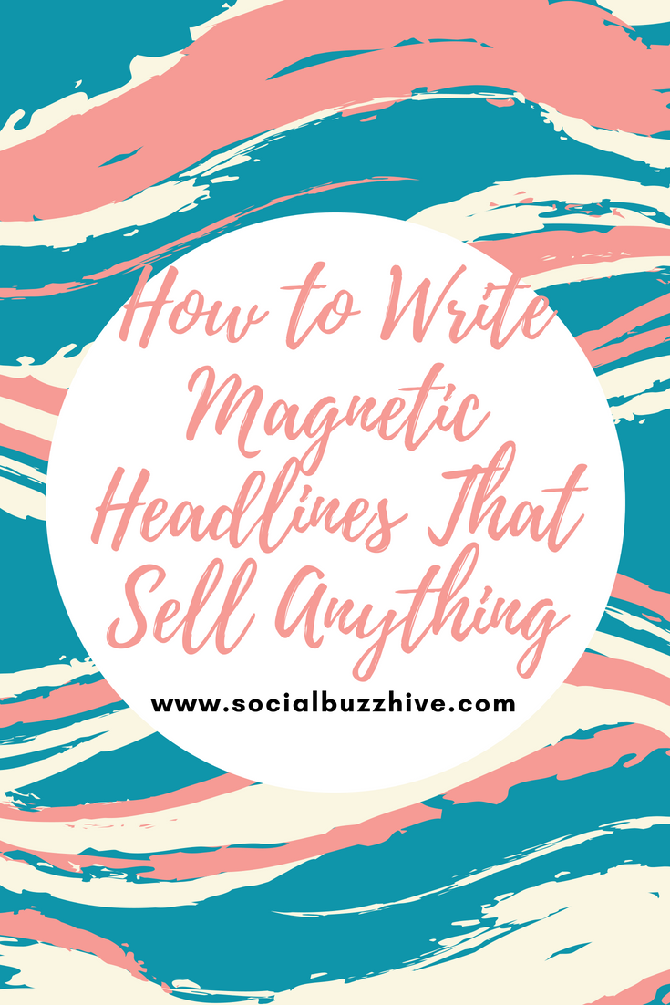 how to write magnetic headlines pinterest pin