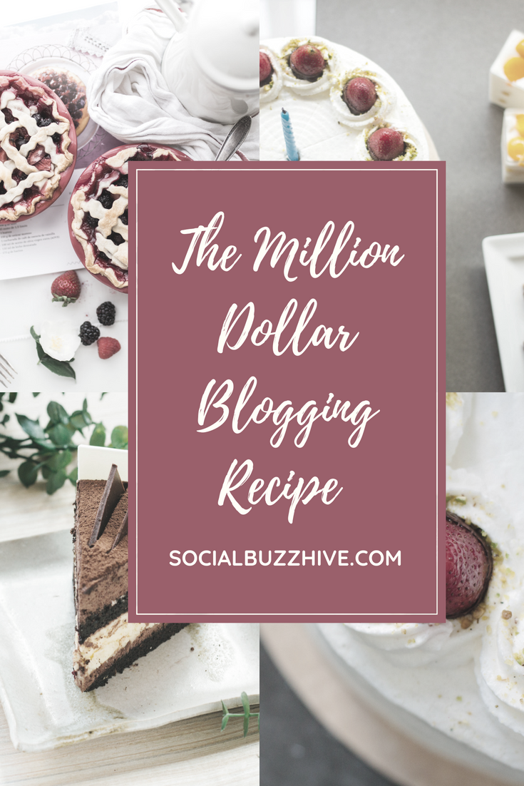 million dollar blogging recipe pinterest pin