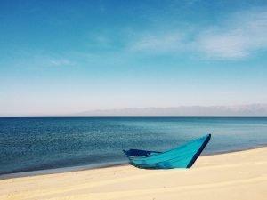 boat on beach image