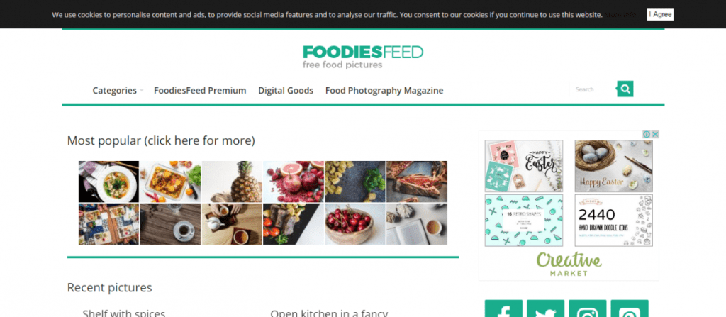 foodies feed website