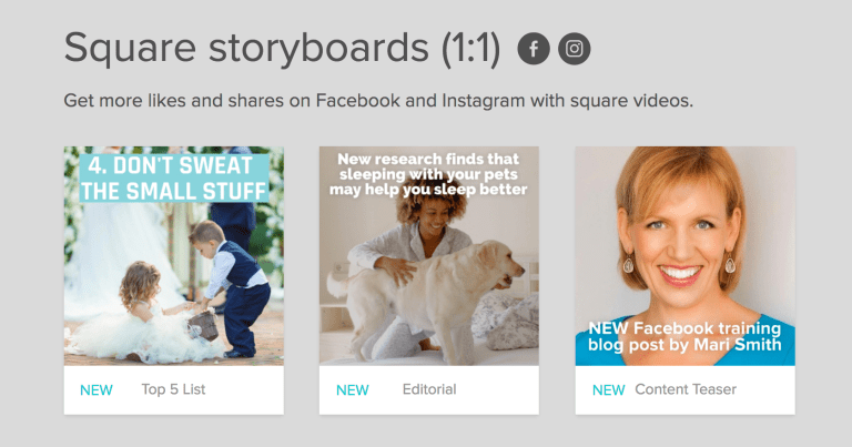 animoto story boards