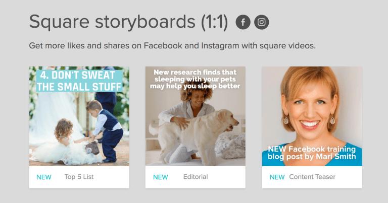 animoto story boards