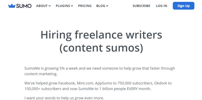 sumo hiring