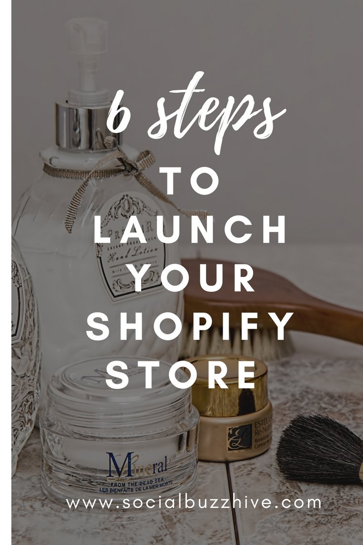 launch your shopify store pinterest pin