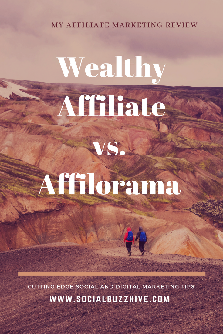wealthy affiliate vs affilorama pin image