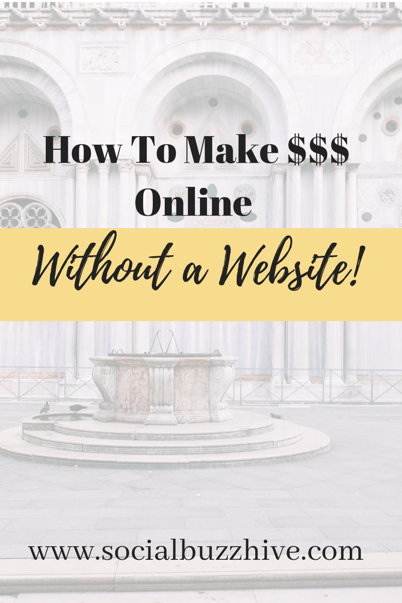 How to Make Money Online Witihout a Website