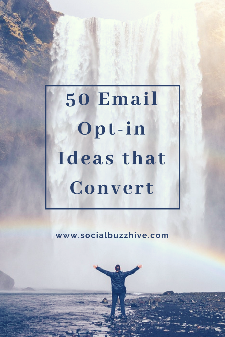 Email opt in ideas that convert image pin