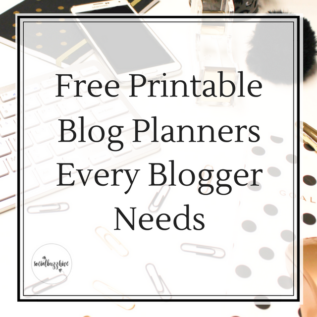 Free Printable Blog Planners Every Blogger Needs