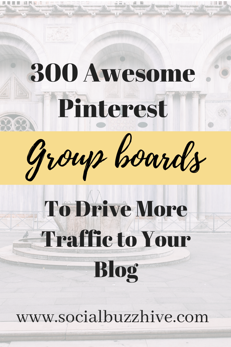 300 pinterest group boards image