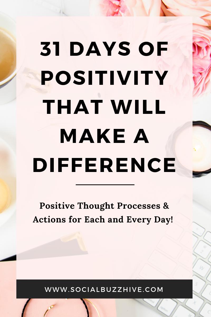 31 days of positivity image