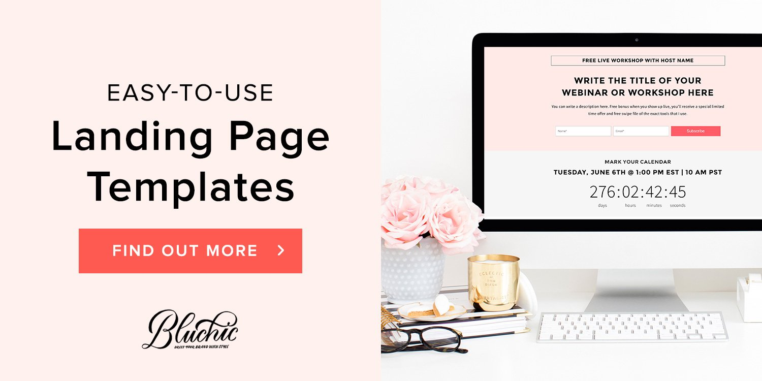 Bluchic landing page template image
