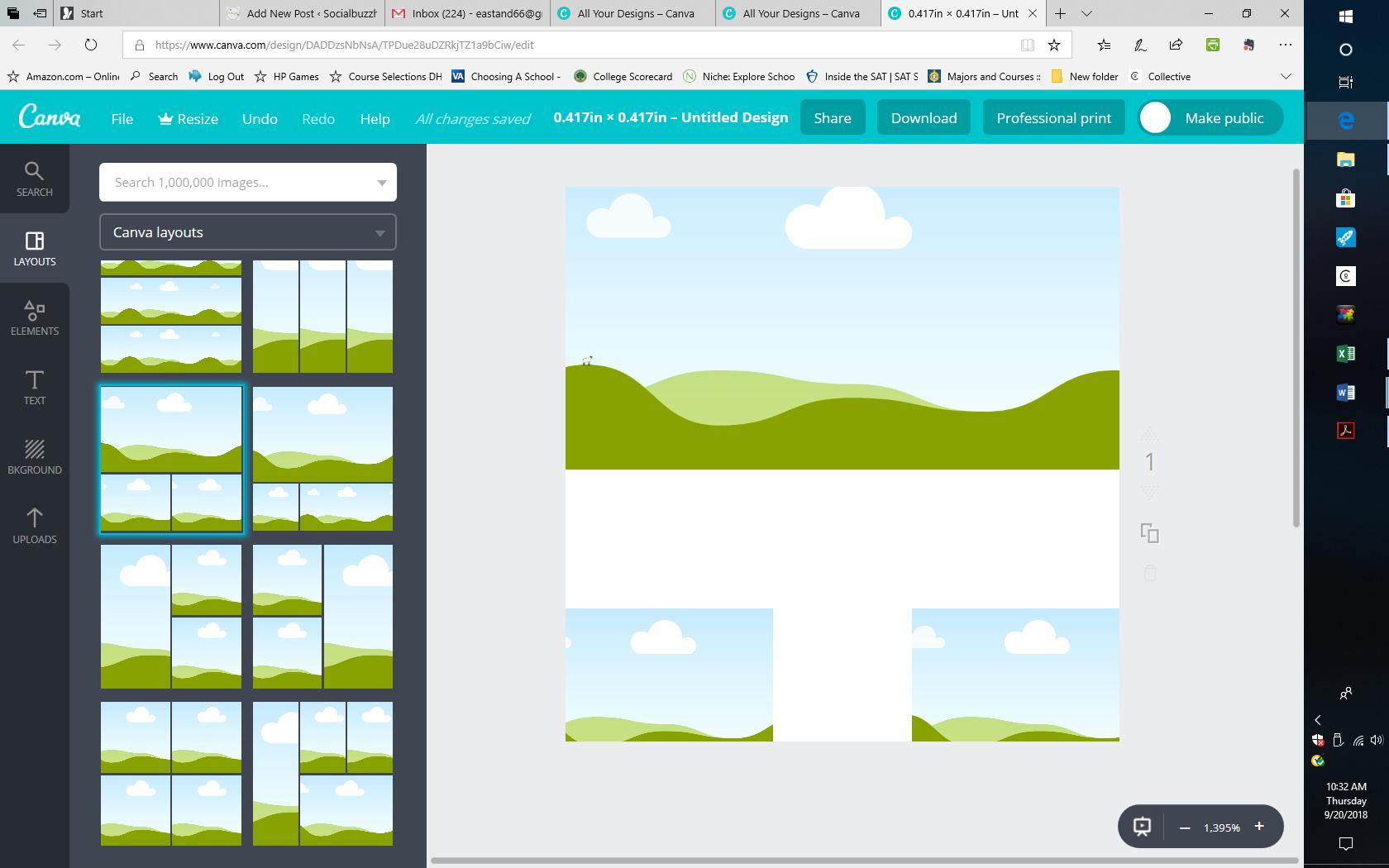 canva layout image