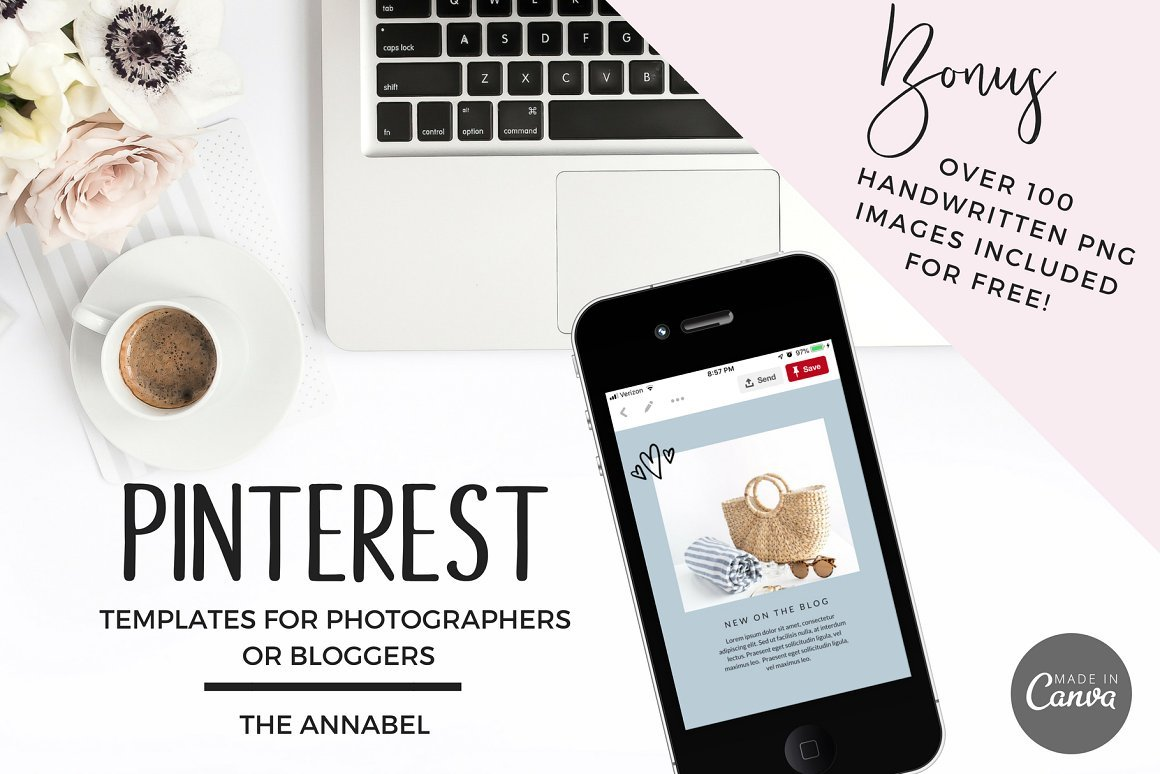 creative market canva pinterest template