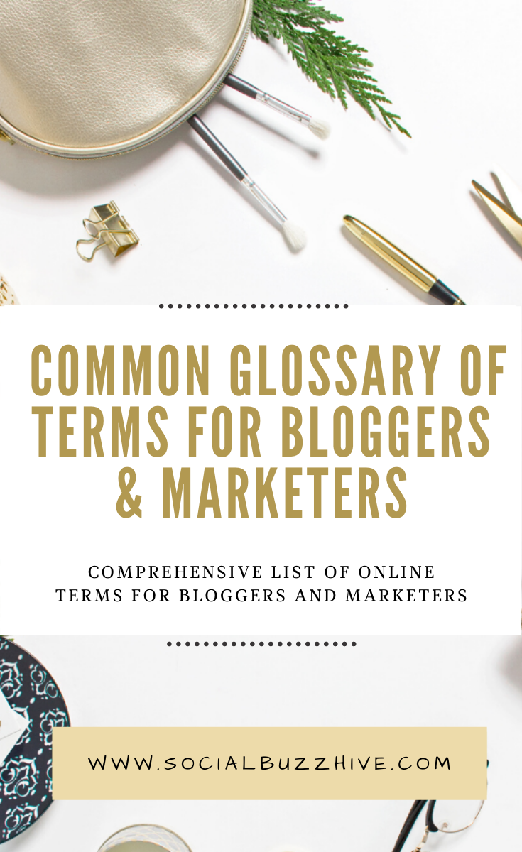 common glossary of terms for bloggers
