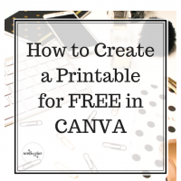 How to Create a Printable For Free in Canva
