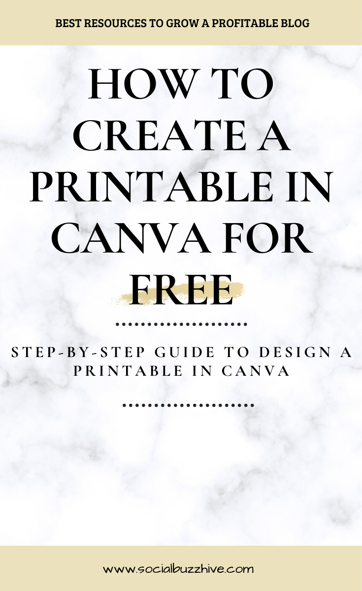 how to create a printable in canva