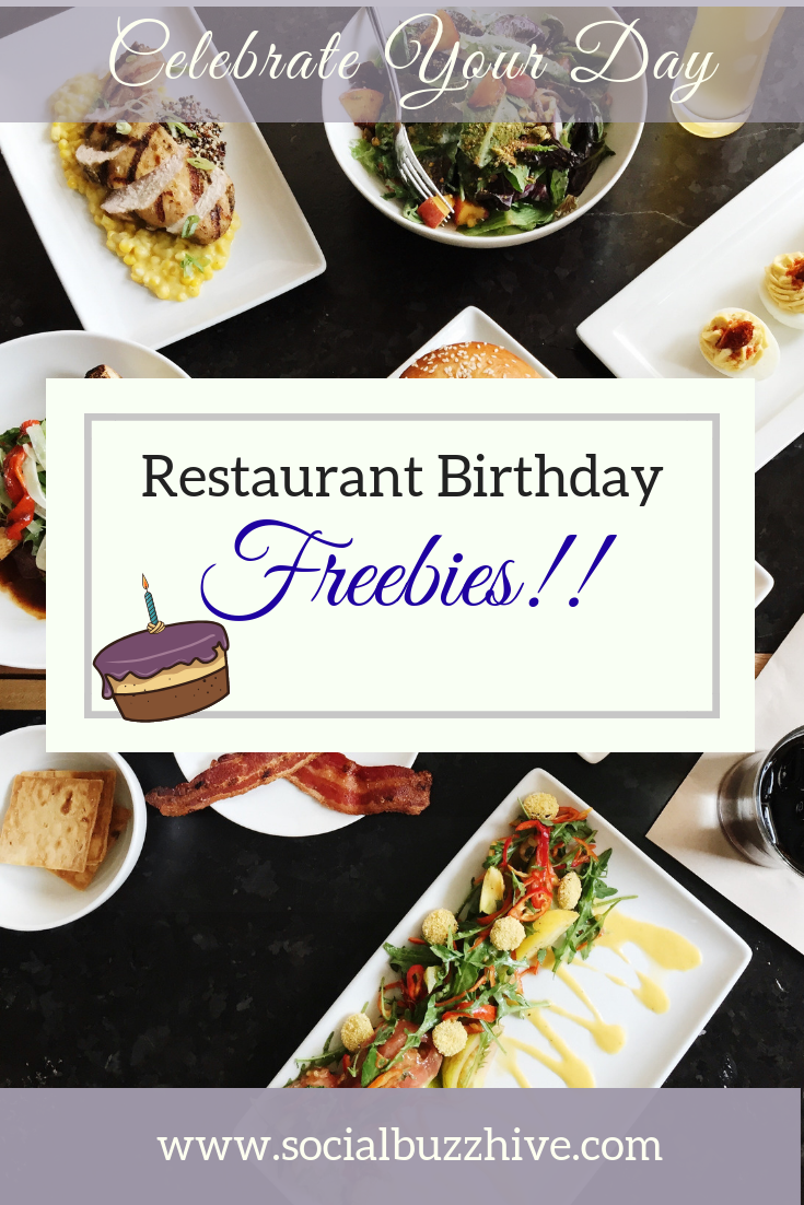 Restaurant birthday freebies