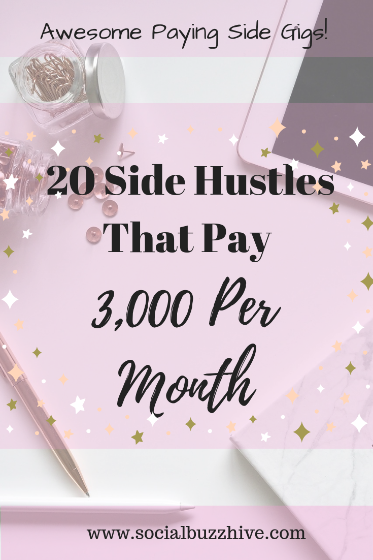 20 Side hustles that pay 3,000 per month