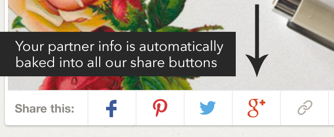 Creative market share buttons
