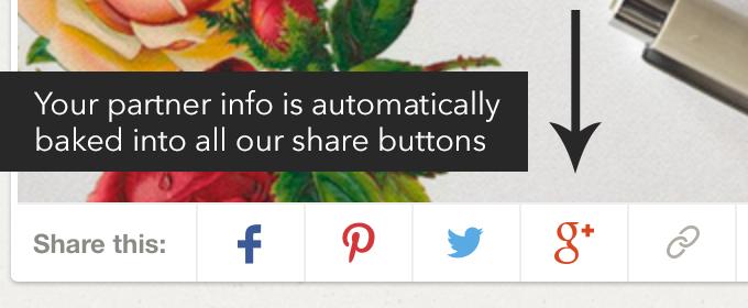 Creative market share buttons