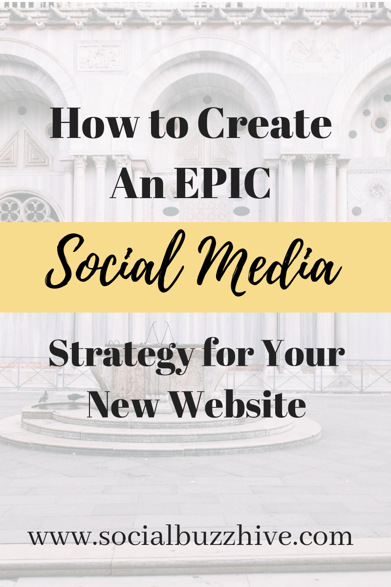 how to create an epic social media strategy for your new website