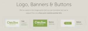 creative market logos banners buttons