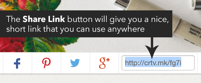share button creative market
