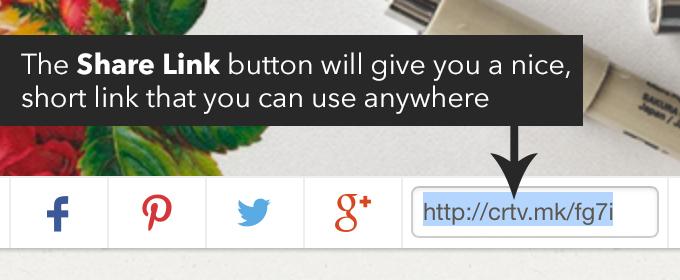share button creative market