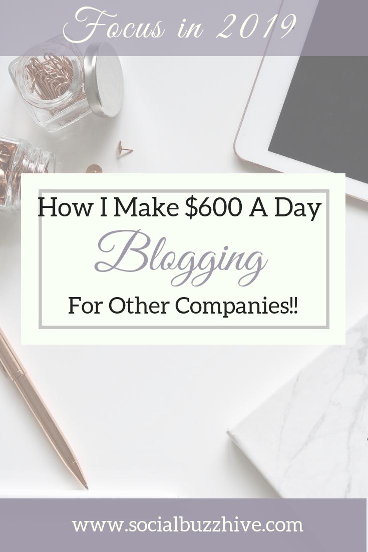 How I Make $600 a day blogging