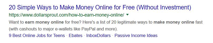 make money online snippet