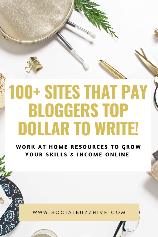 100 sites that pay bloggers well