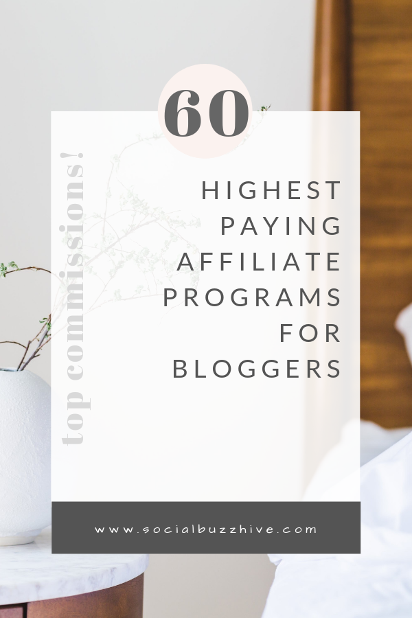60 highest paying commissions for bloggers