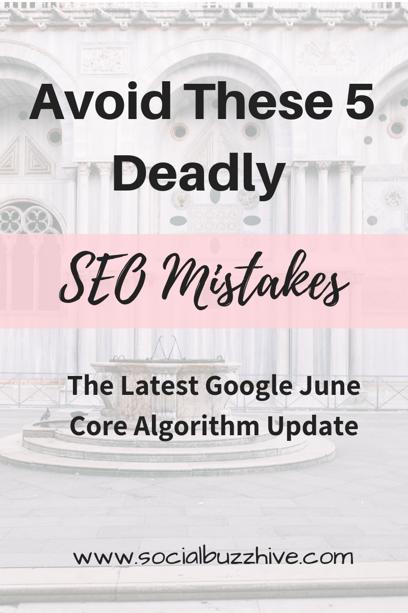 avoid 5 deadly seo mistakes