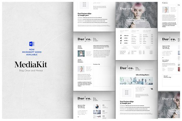press kit creative market