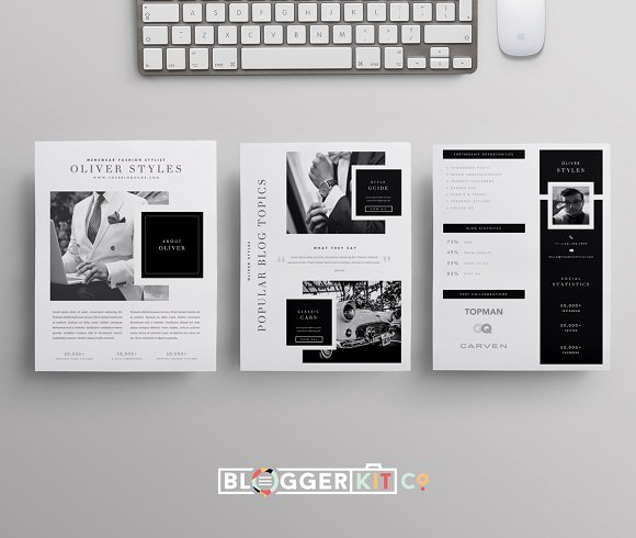 blogger media kit menswear