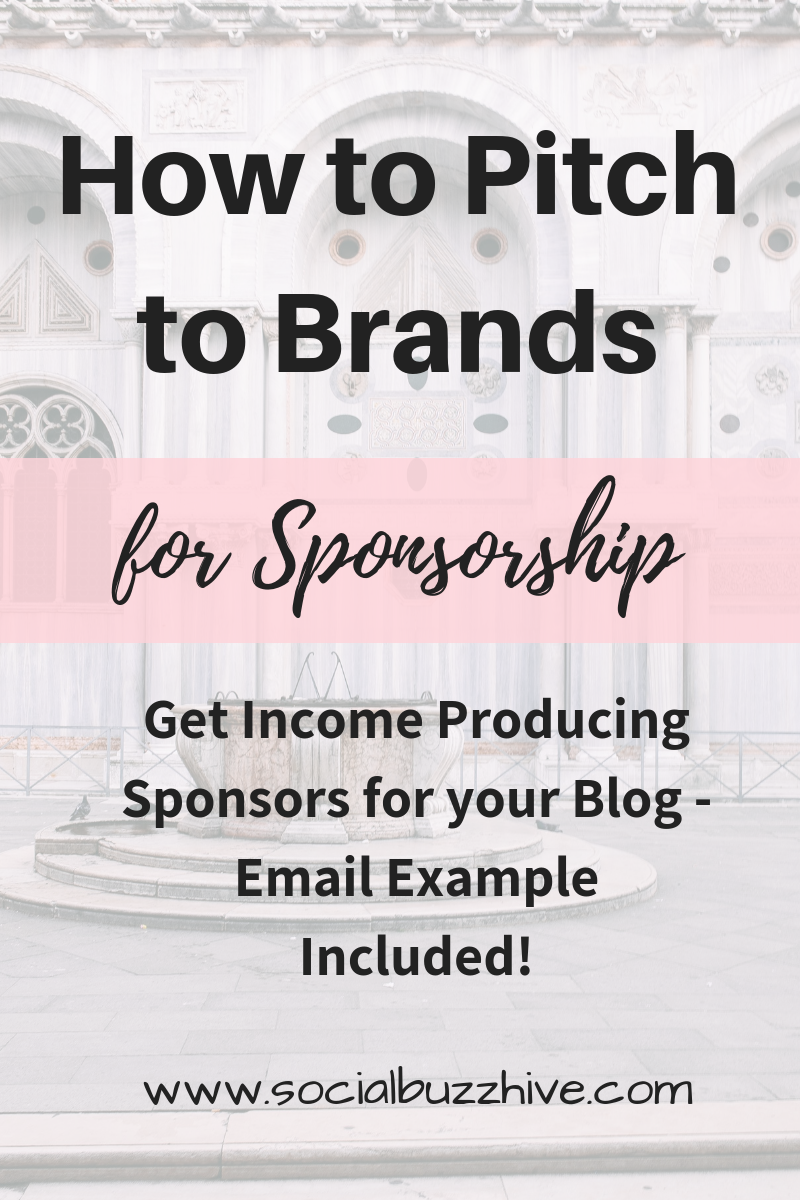 how to pitch to brands for sponsorship